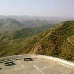 large sit-out  of   Monsoon Palace - to view  the  hills of  sanctuary