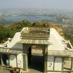 Udaipur town  from Monsoon Palace  Sajjangarh