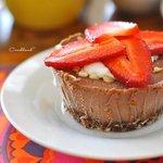 Raw vegan Dar Chocolate Cheesecakes!