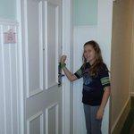 Magic Band access into room.  No room key needed.