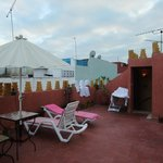 Roof top terrace for the Roses Room