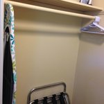Lots of open closet space, iron and ironing board provided