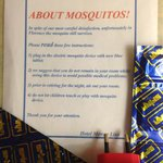 Mosquito Infestation Sign in our room