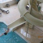 Fun slide at the pool