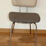 Chaise Hock, avec tissu vintage Yves St Laurent