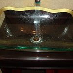 Unusual sink in Quality Inn, Baltimore