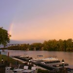 Autumn rainbow over the Mohawk River