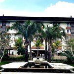 View hotel from garden wedding