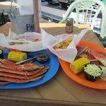 1 lb of crab and half a lb of shrimp