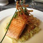 Prato principal com salmão