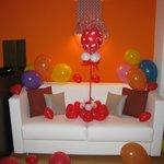 La suite piena di palloncini!