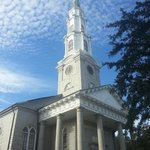 """Historic Independent Presbyterian Church from where the feather fell at end of """"Forrest Gump."""""""