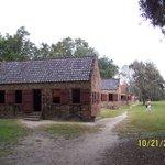 Slave quarters on the plantation