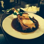 Steak and ale pie. Lovely but a generous portion we couldn't finish. Fairly priced though