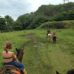 Horseback riding from the hotel.