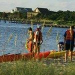 Group Kayak Tour stop at Springers Point