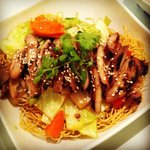 Crispy noodle with chicken