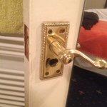 Bathroom lock/latch missing