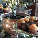 Daily freshed baked muffins - delicious!