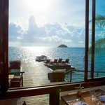 View towards Crab Caye