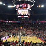 A view of the Ohio/Ohio State basketball game from section 131 row M.