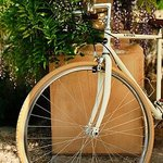 Biking around town in Ojai.