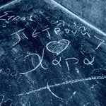 You can write anything on the many blackboards!