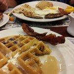 all wonderful..best waffle ever!
