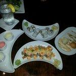 amazing sushi rolls and saki!