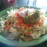 My yummy taco salad!