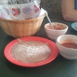 The rice beans salsa and chips you get while you wait very attentive staff very little wait