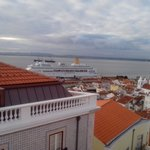 view from Alfama Patio Hostel