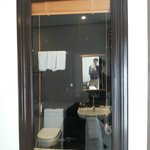 See thru bathroom