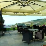 Restaurant terrace with extensive views..