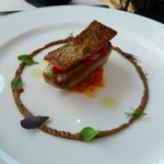 Roasted amberjack with piperade