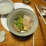 Takiawese: Bamboo shoot, roe of walleye pollock, seaweed