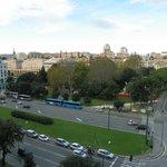 vista dalla camera (piazza Verdi e stazione Brignole)