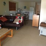 Lounge room of ground floor one bedroom apartment