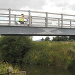 Re-instated bridge over the river Stour on the Trailway