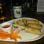 Starter with Thai beer
