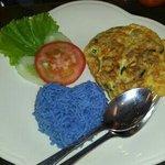 lamb omlete with blosom rice