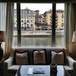 Vista al Arno desde la zona común