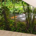 Pond in the internal courtyard in the Lagoon tower