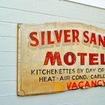 Vintage sign on property