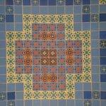 colorfull tiles at the Wrigley Memorial