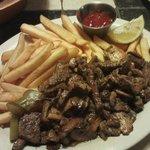 Marinated Lamb and Fries