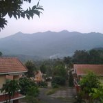 View of the Chembra peak from the villa