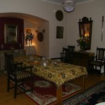 gorgeous dining room-cadles, linens, great service-personal
