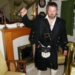 hubby dressed in trad scot attire:)))