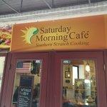 Look for this under the awning!